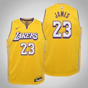 Women Lakers #23 LeBron James City Jersey